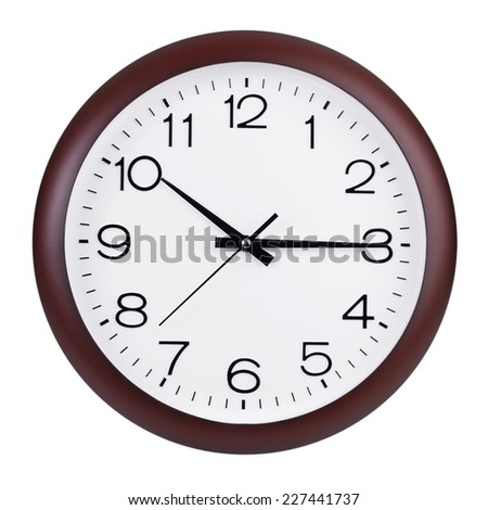 Fifteen minutes after ten o'clock on the dial - stock photo