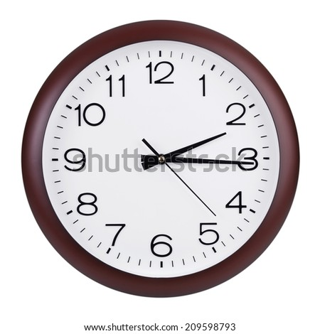 Fifteen minutes of the third on the dial - stock photo