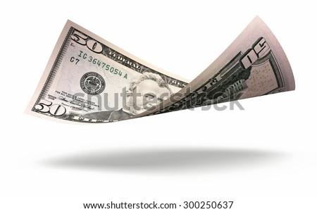 Fifty dollar banknote closeup - stock photo