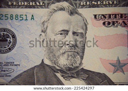 Fifty dollars bill - stock photo