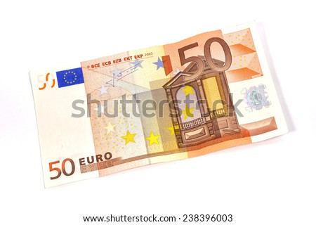 Fifty Euro banknote  - stock photo