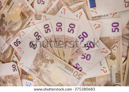 fifty euro bill background - stock photo