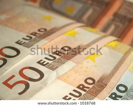 fifty euro money bill - stock photo