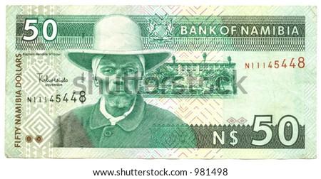 fifty Namibian Dollars - stock photo