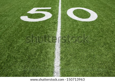 Fifty Yard Line - stock photo