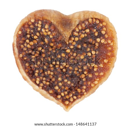 Fig in the form of heart - stock photo