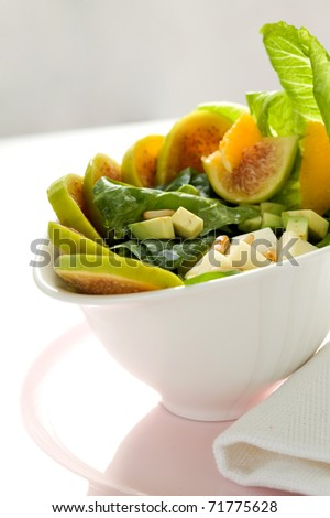 fig salad - stock photo