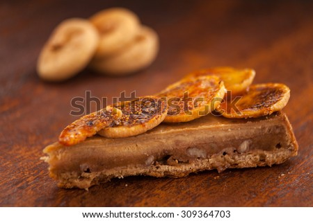 Fig Tart:An delicious Fig tart with caramelized figs on top at Rawan Cake in Amman,Jordan on April 2015 - stock photo