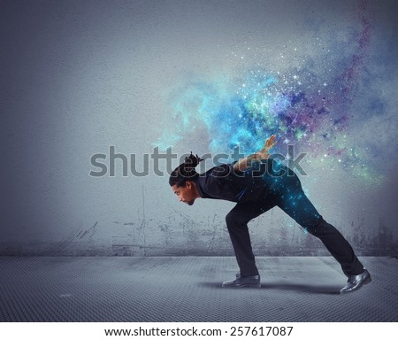 Fight and dance in a discipline stellar - stock photo