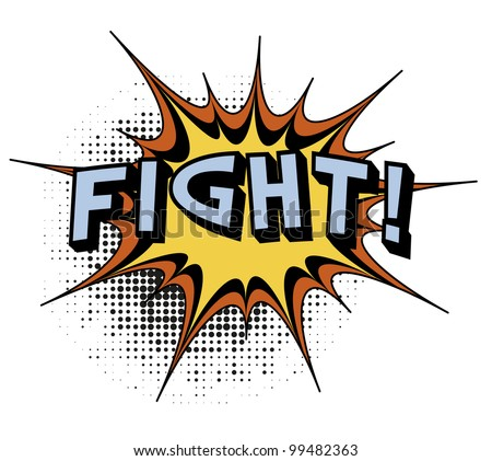 Fight. Comic book explosion. - stock photo