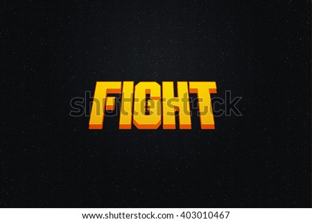 Fight Game Screen Background - stock photo