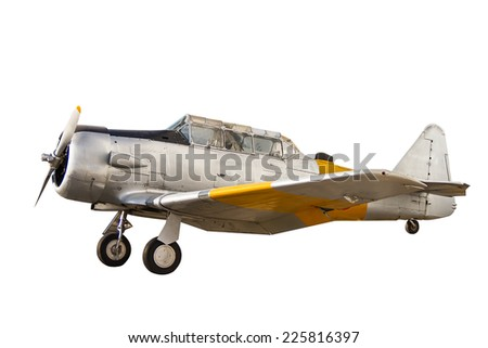 Fighter aircraft close up on white background - stock photo