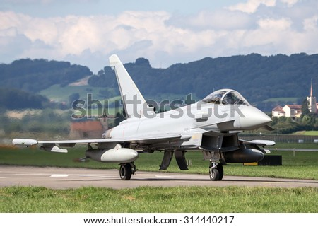Fighter aircraft taxiing for takeoff.  - stock photo