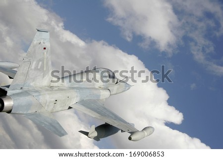 Fighter jet  - stock photo