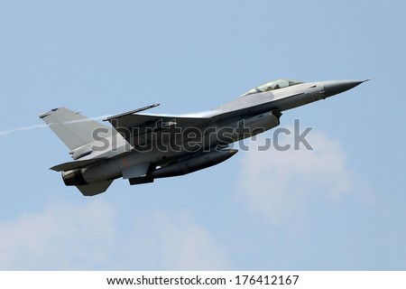 fighter jet from below - stock photo