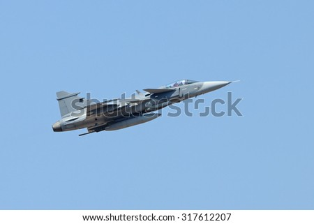 Fighter jet gripen - stock photo