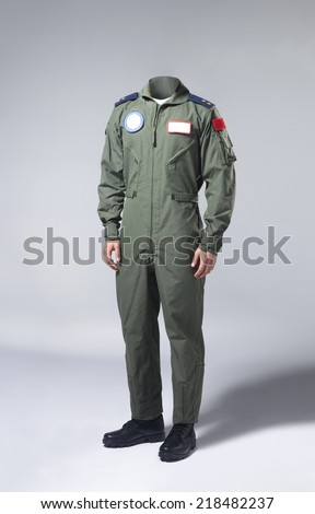 Fighter pilot body - stock photo