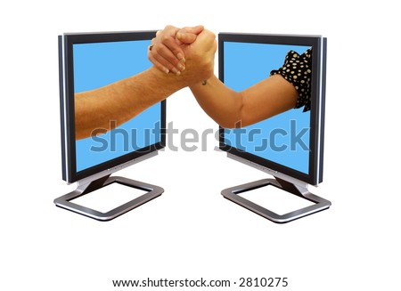 Fighting for control over the internet - stock photo