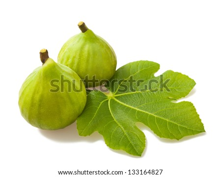 Figs couple isolated on white - stock photo