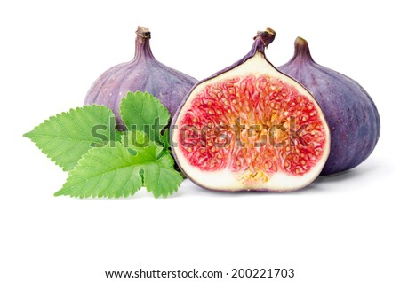 Figs insulated on white background - stock photo