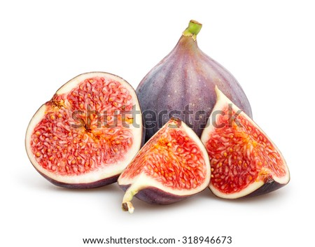 figs isolated - stock photo