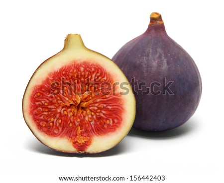 figs isolated on white  - stock photo
