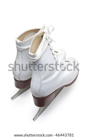 Figure skates. Isolated on white background with clipping path. - stock photo
