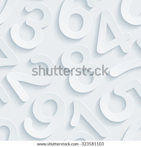 Figure. White perforated paper with cut out effect. 3d seamless background.  - stock photo