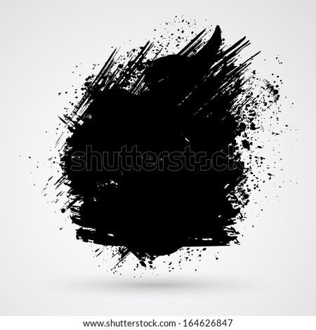 Figured brush strokes brush and ink. Merry Christmas and Happy New Year background.  - stock photo