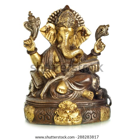 Figurine of Hindu God Ganesha - stock photo