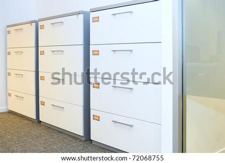 File cabinet. - stock photo