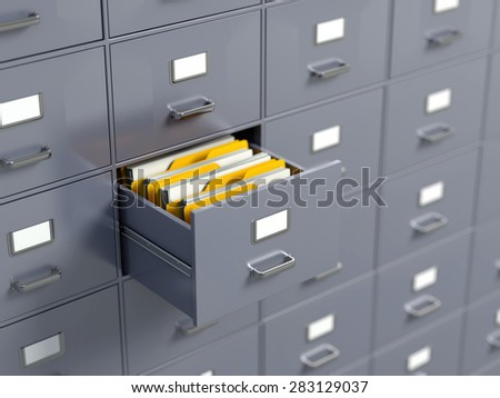 File cabinets - stock photo