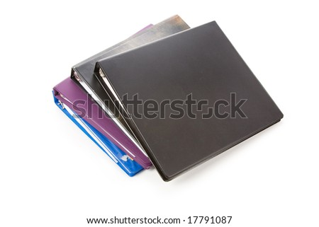 file folder, Ring Binder, with white background - stock photo