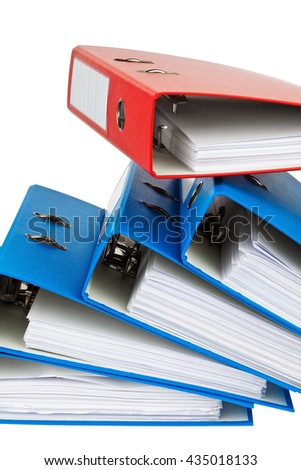 file folder with documents and documents - stock photo
