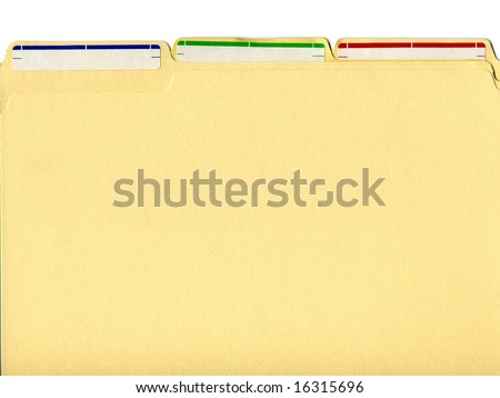 file folders with labels - stock photo