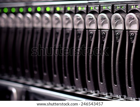 File Server disks - stock photo