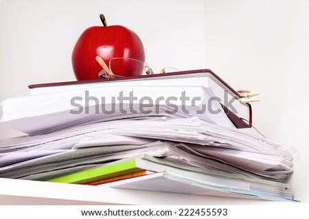 File stack - stock photo