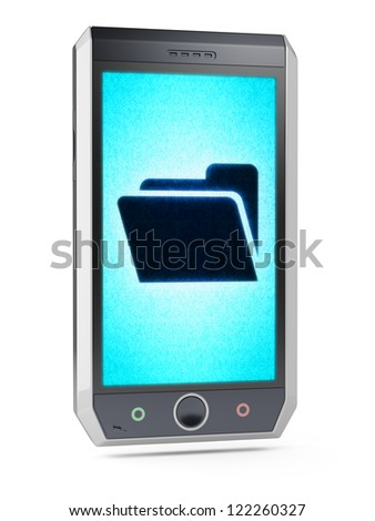 File  This is my own design of smart phone, therefore you can use this picture for commercial purposes. Full collection of icons like that is in my portfolio - stock photo