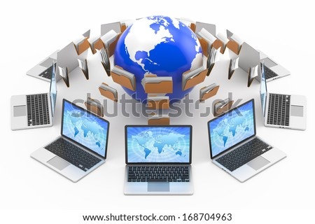 files, data transmission, Internet concept - stock photo
