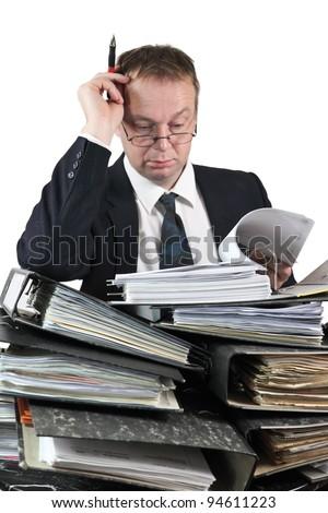 Files mountain execute - stock photo