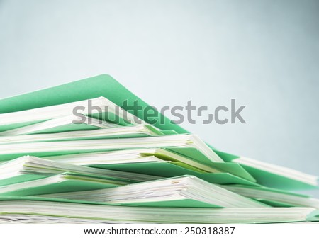 Files.Stack of papers paperwork. - stock photo