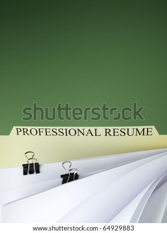 Files with job applications - stock photo