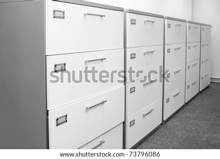 Filing cabinet. - stock photo