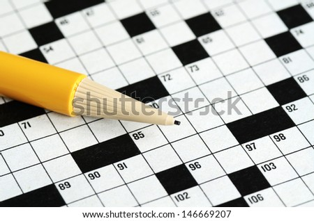 Fill the cross word puzzle concept of determinating the next move and strategy - stock photo