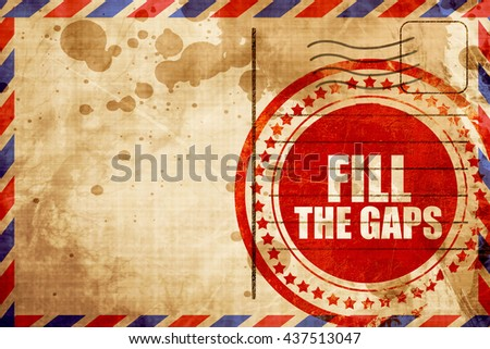 fill the gaps - stock photo