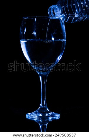 fill the glass - stock photo