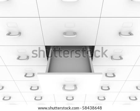 Filling Cabinet. 3D rendered Illustration. - stock photo