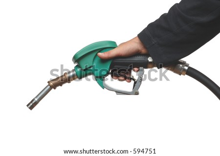 filling gas on white - stock photo