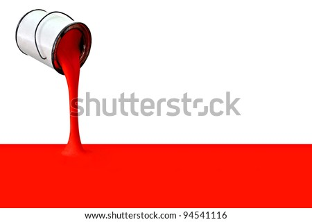 Filling with red a great image for your job. - stock photo