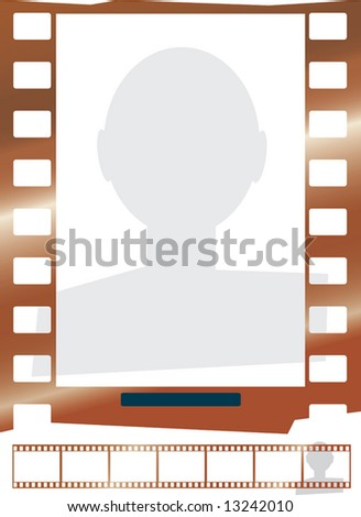 film. cliche. punching. a vector. isolated object a wait - stock photo